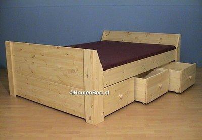 2 persoons bed jeanine met 3 laden div. maten houtenbed