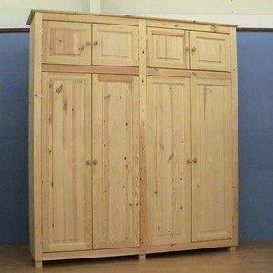 4deurskast normabovenkastjes houtenbed
