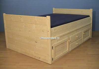 2-persoonsbed WOODY 120x190t/m180x220